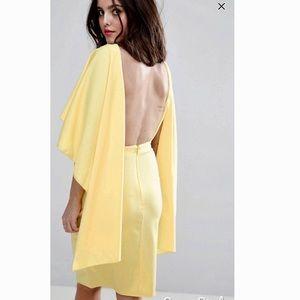 Asos Yellow Ruffle Sleeve Dress